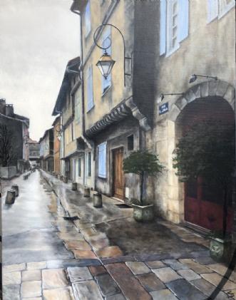 Rue Montseigneur de.. by Heidi Kaas | maleri