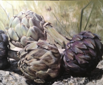 Artichauts in Meras.. by Heidi Kaas | maleri