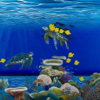 Turtles by Britt Wilken | maleri