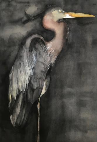 Crane by Helle Blom | tegning
