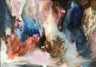 Uden titel 8 by Hanne Toft Ørum | maleri