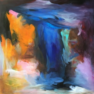Blå by Hanne Toft Ørum | maleri