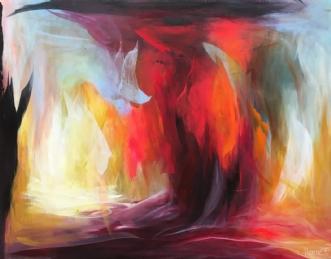 Rød trold by Hanne Toft Ørum | maleri