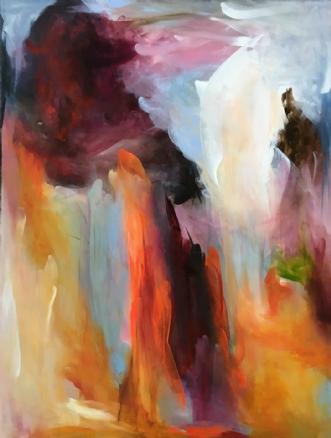 På vulkaner by Hanne Toft Ørum | maleri
