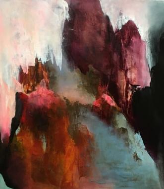 Langt borte by Hanne Toft Ørum | maleri