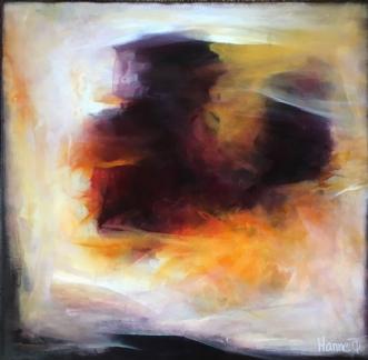 Hvor ilden brænder by Hanne Toft Ørum | maleri