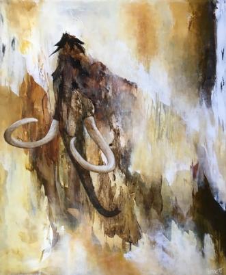 Tusindvis af år by Hanne Toft Ørum | maleri