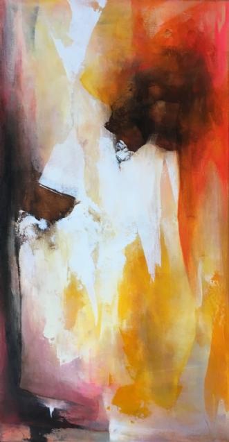 Tæt på dig by Hanne Toft Ørum | maleri