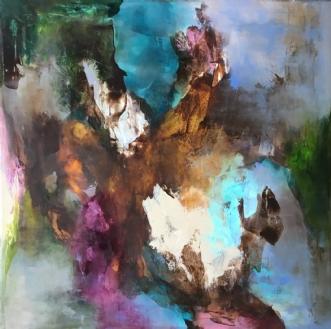 Der hvor alt kan sk.. by Hanne Toft Ørum | maleri