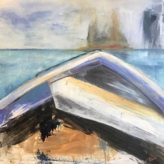På vej - På tur by Karina Thomas | maleri