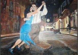 Argentinsk gadetang.. by Samantha Lee Lauridsen | maleri