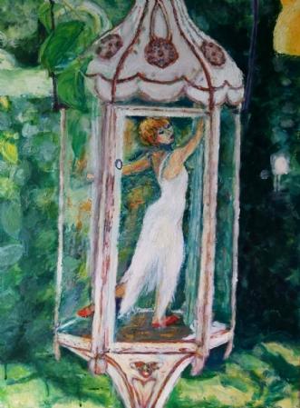 Danserinde by Yvonne Wiese | maleri