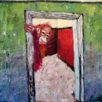 Nogen hjemme by Yvonne Wiese | maleri
