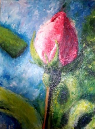 I Modvind by Yvonne Wiese | maleri