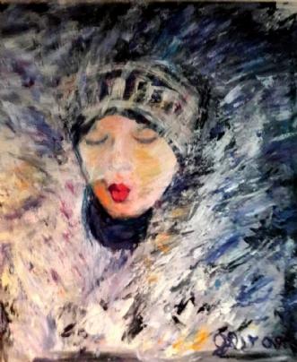 Tøbrud by Yvonne Wiese | maleri