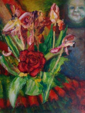 Nyt og gammelt by Yvonne Wiese | maleri