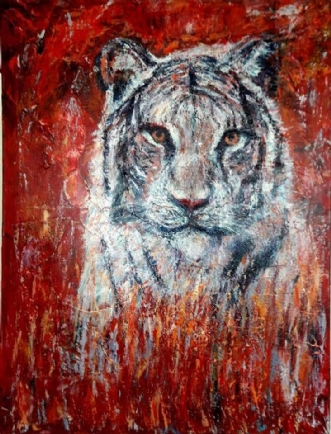 På vej by Yvonne Wiese   maleri