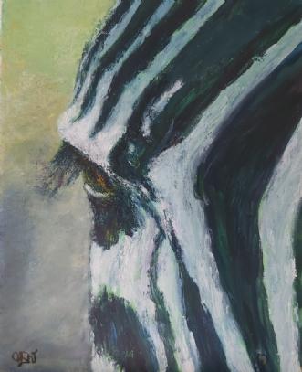 Zebra by Yvonne Wiese | maleri