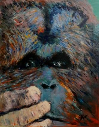 Orangutang  by Yvonne Wiese | maleri