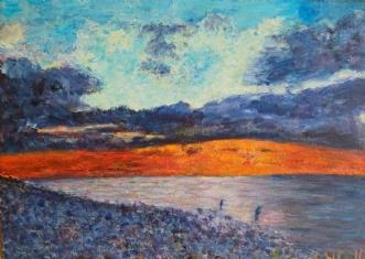 Fisketur i solnedgangenafYvonne Wiese