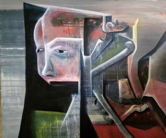 Done for the day!  by Mette Kølbæk | maleri
