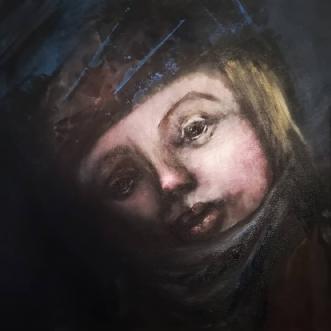 Portræt 1 by Mette Kølbæk | maleri