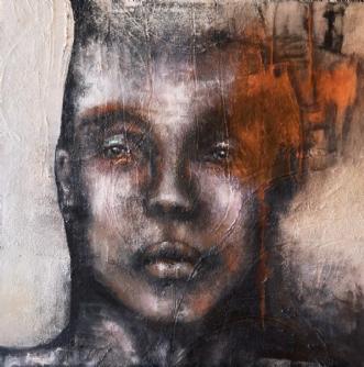 Tankespind by Mette Kølbæk | maleri