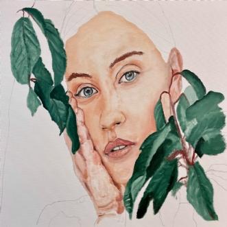 Pigen i busken by Peter Fuglsang | maleri