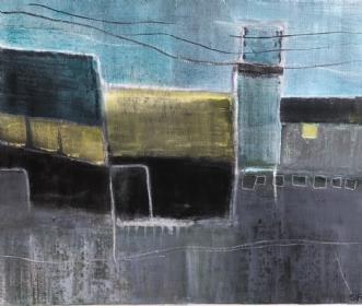 Havneliv 1 by Susanne Ruge | maleri