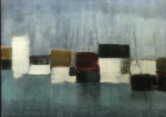 Havneliv 4 by Susanne Ruge | maleri