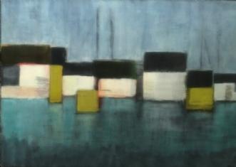 Havneliv 2 by Susanne Ruge | maleri