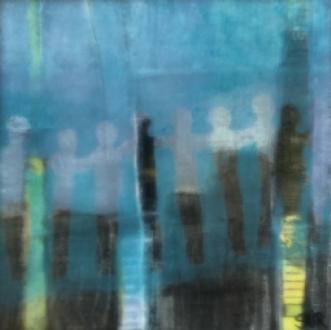 silhuet 2 by Susanne Ruge | maleri