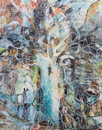 Vinter by Irene Steenberg | maleri