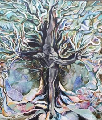Træmennesket by Irene Steenberg | maleri
