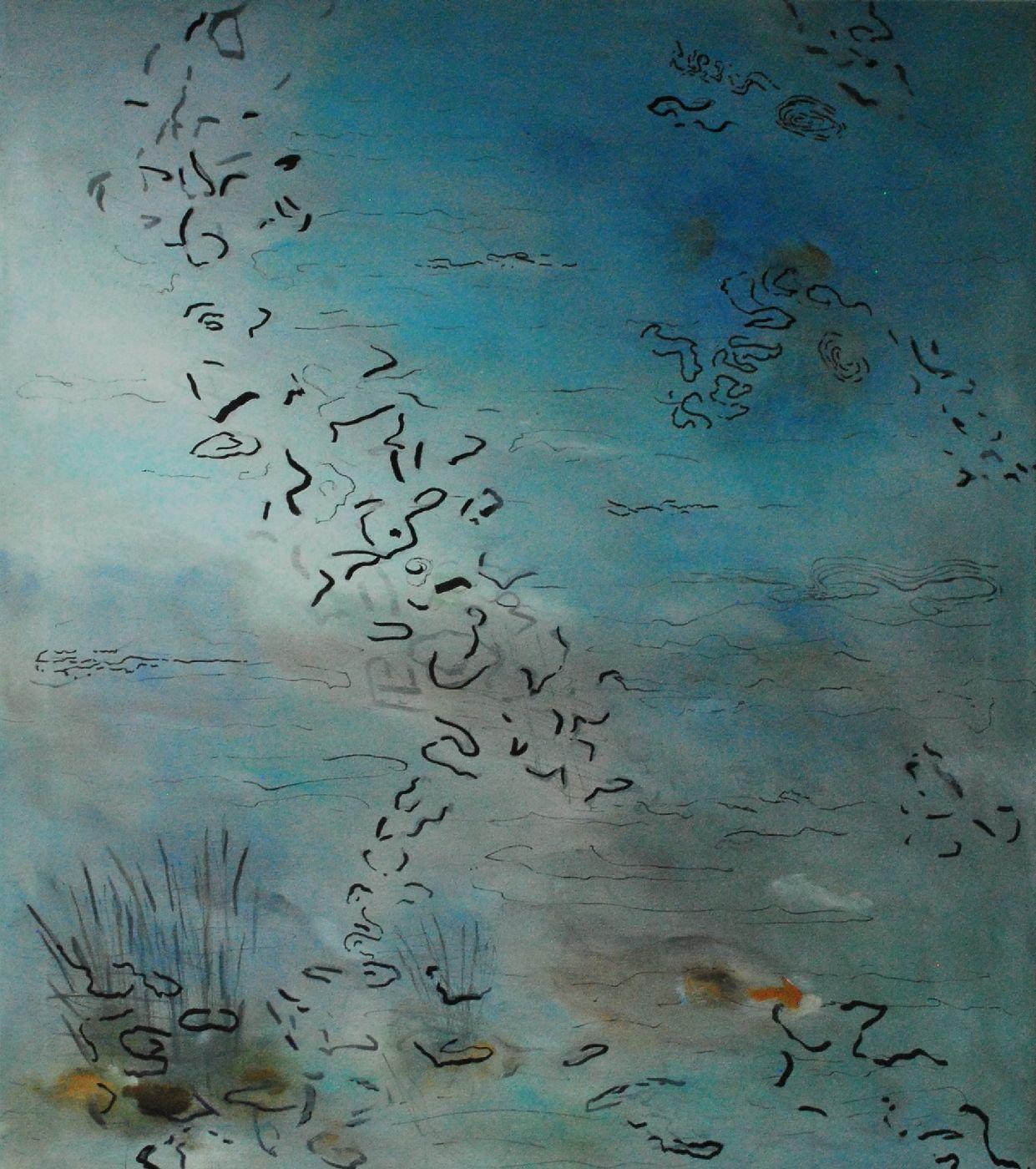 Bevægelse 2 by Marian Rune | maleri