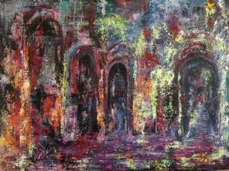 The caves by Chris Præstegaard   maleri