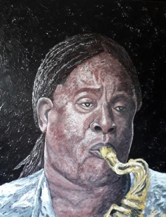 Clarence Clemons  by Chris Præstegaard   maleri
