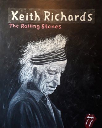 Keith Richards by Chris Præstegaard | maleri