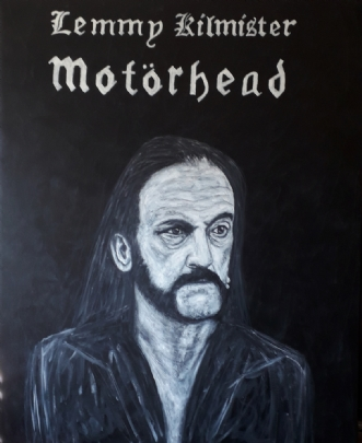 Lemmy kilmister by Chris Præstegaard | maleri