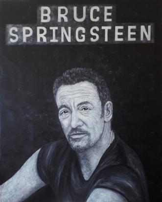 Bruce Springsteen p.. by Chris Præstegaard | maleri