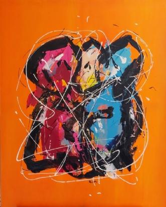 Menage Trois by Martin Boldsen | maleri