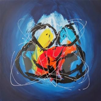Together forever by Martin Boldsen | maleri
