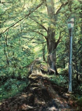 På vej mod lyset by Trine Kent | maleri