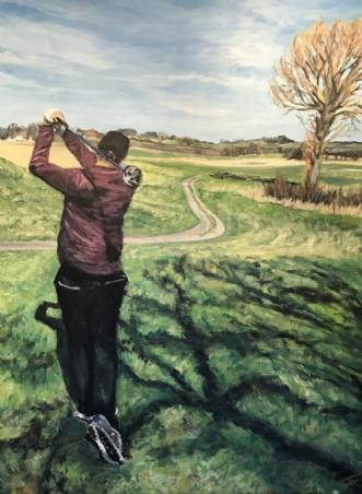 Golfing by Trine Kent | maleri