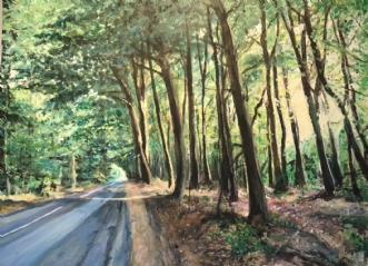 Skovens lys by Trine Kent | maleri