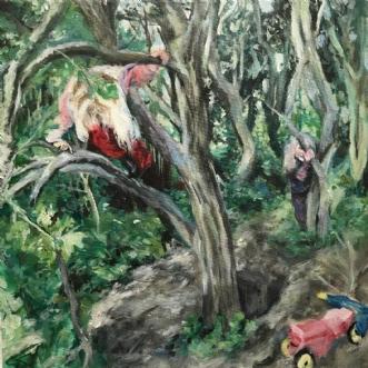 Klatren i træer by Trine Kent | maleri