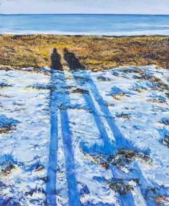 Morning walk by Trine Kent | maleri