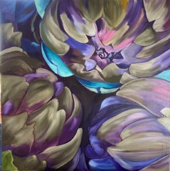 Artiskokker by Susanne Luup | maleri