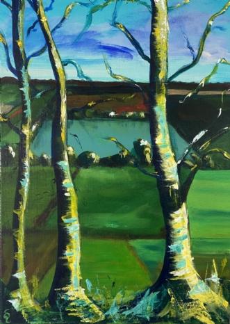 Træer i Jylland  by Susanne Luup | maleri