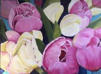 Tulipaner by Susanne Luup | maleri